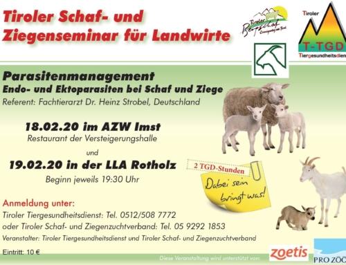 Tiroler Schaf- und Ziegenfachtagung
